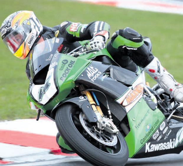 Ninja place: Simon Andrews' Kawasaki Ninja Superbike will now be raced by Gary Mason at the North West