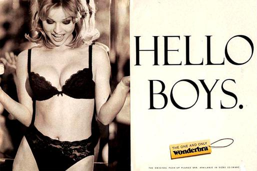 The Wonderbra billboard caused quite a stir in 1994