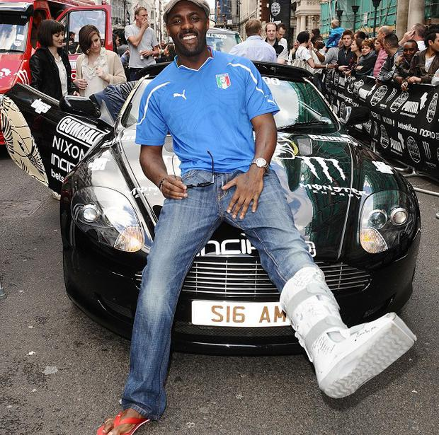 Wire star Idris Elba has been given driving fines during the Gumball 3000 Rally