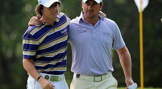 Graeme McDowell was delighted by fellow Ulsterman Rory McIlroy's remarkable victory at the Quail Hollow Championships at the weekend