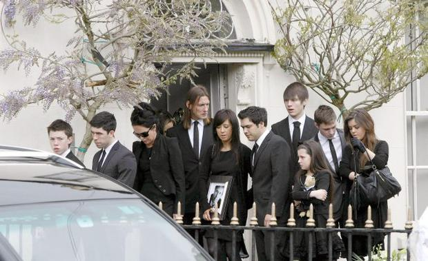 The funeral of Gerry Ryan in Dublin. May 6 2010