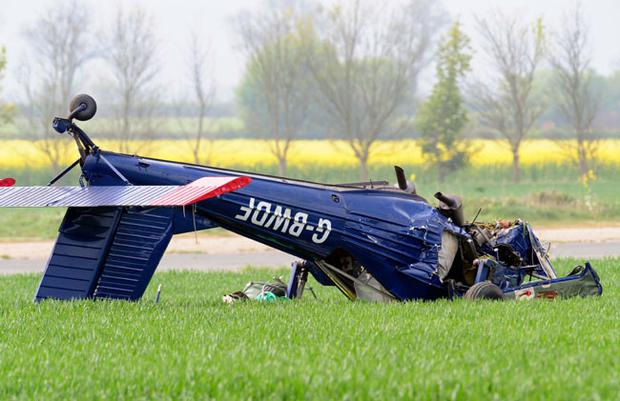 The light aircraft that crashed at Hinton-in-the-Hedges airfield, near Brackley, injuring Ukip candidate Nigel Farage
