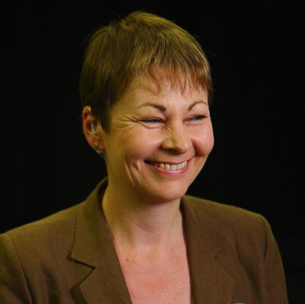 Caroline Lucas at the General Election count in Brighton