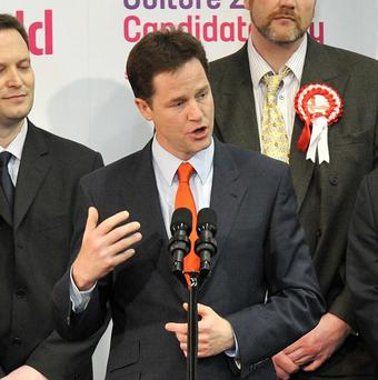 Nick Clegg has expressed disappointment at the Liberal Democrats' poll showing