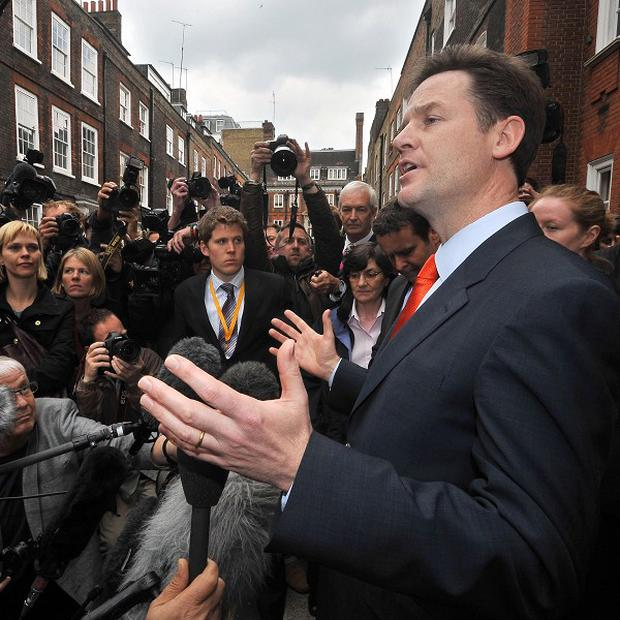 Liberal Democrat leader Nick Clegg said the Tories must 'prove' their worth
