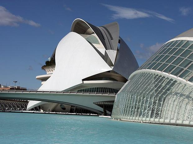 The incredible Ciudad de las Artes y las Ciencias make Valencia a diverse city