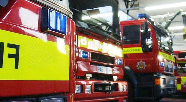 A 40-stone woman had to be rescued from her home by firefighters