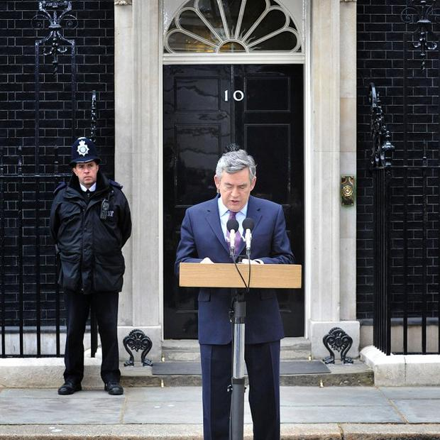 PM Gordon Brown announces his intention to resign as Labour leader