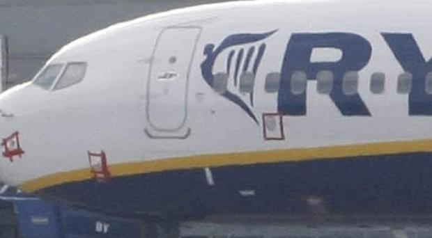 A Ryanair flight returned to George Best Belfast City Airport after crew noticed an 'acrid smell'