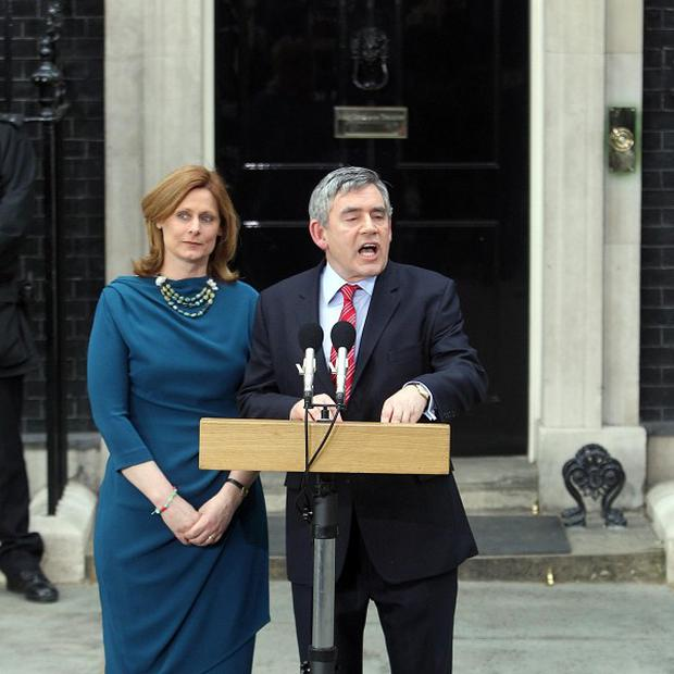 Gordon Brown announces his resignation as Prime Minister of Britain
