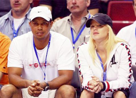 Tiger Woods and his wife Elin