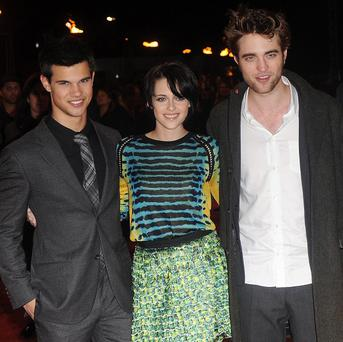 The Twilight Saga: Eclipse stars Taylor Lautner, Kristen Stewart and Robert Pattinson
