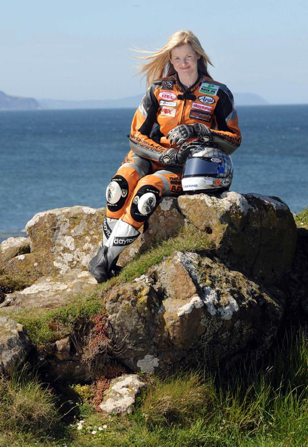 Maria Costello, the fastest ever woman around the Isle of Man TT course and is the only female competitor at this year's North West 200