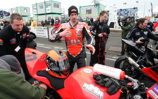 Ryan Farquhar pictured at the second practice on the North coast circuit at the Relentless International North West 200