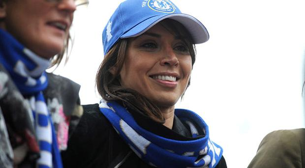 Frank Lampard's partner Christine Bleakley during Chelsea's Premier League and FA Cup celebrations atop a double decker bus during the victory parade in London. PRESS ASSOCIATION Photo. Picture date: Sunday May 16, 2010. See PA story SOCCER Chelsea Parade. Photo credit should read: Daniel Hambury/PA Wire.