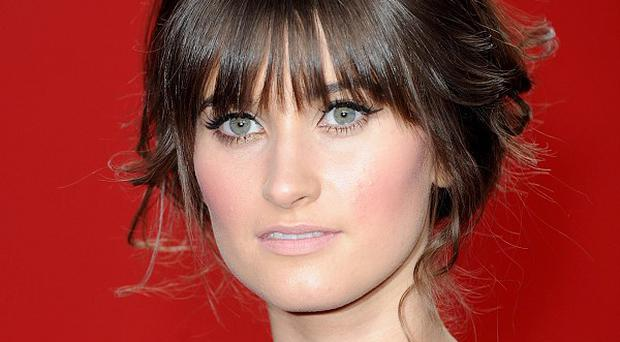 Charley Webb welcomed her son in April