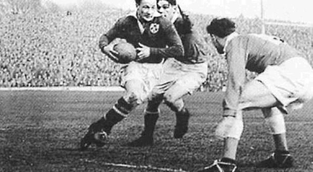 <br /><b>Jack Kyle</b><br /> Jack Kyle is possibly the greatest ever Irish rugby player. The fly half was a pivotal figure in Ireland's first Grand Slam in 1948 - it would be 61 years before the men in green achieved the feat again. Kyle played in all the matches in what was then the Five Nations Championship and followed up with the title twice in the next three years. Kyle made 46 appearances for Ireland between 1947 and 1958, a time in which international action was much less plentiful than it is now and long before the advent of the World Cup. He was also selected for the Lions, playing in all six Tests on the 1950 tour of Australia and New Zealand. Now 84, he spent much of his working life as a consultant surgeon in Africa. Kyle was inducted into the International Rugby Hall of Fame in 1999 and was named the Greatest Ever Irish Rugby Player by the IRFU in 2002.