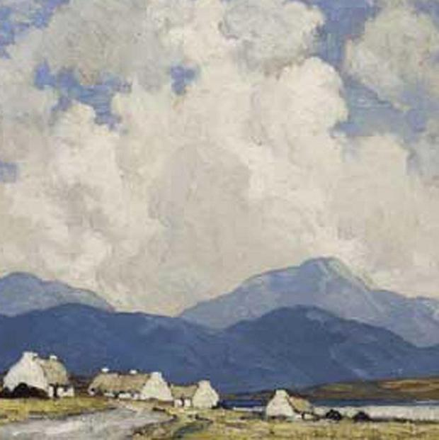 A landscape by Paul Henry will go under the hammer at The Important Irish Art event in Dublin