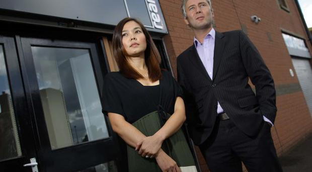 The Ream Printing Company Belfast. Ryan Quinn pictured with his wife Ja Quinn