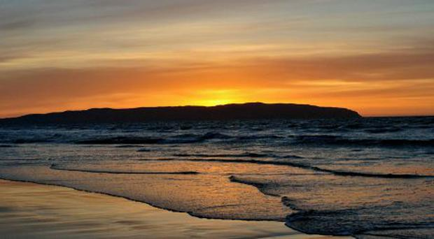 Sunset over castlerock beach. Submitted by John Shaw Lisburn