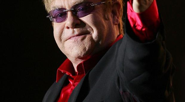 Elton John performs during the Mawazine Festival in Rabat, Morocco (AP)