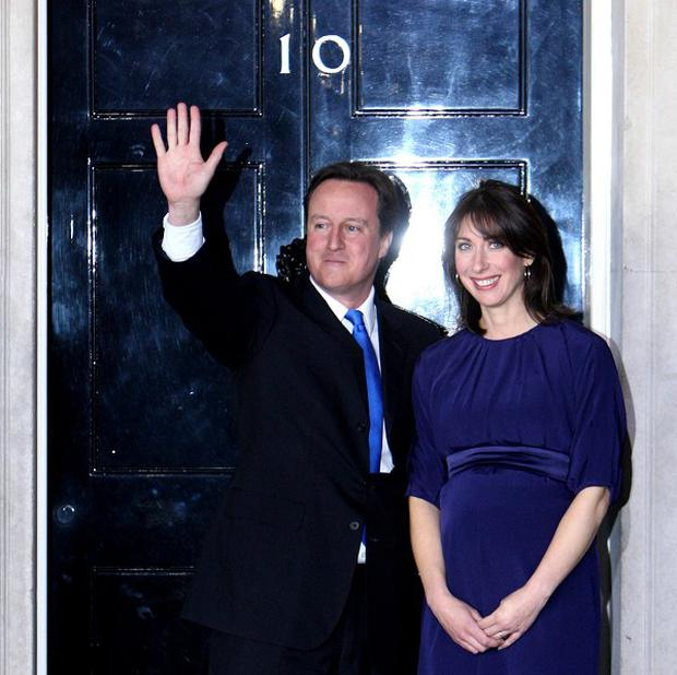 David Cameron and his wife Samantha are moving into 10 Downing Street