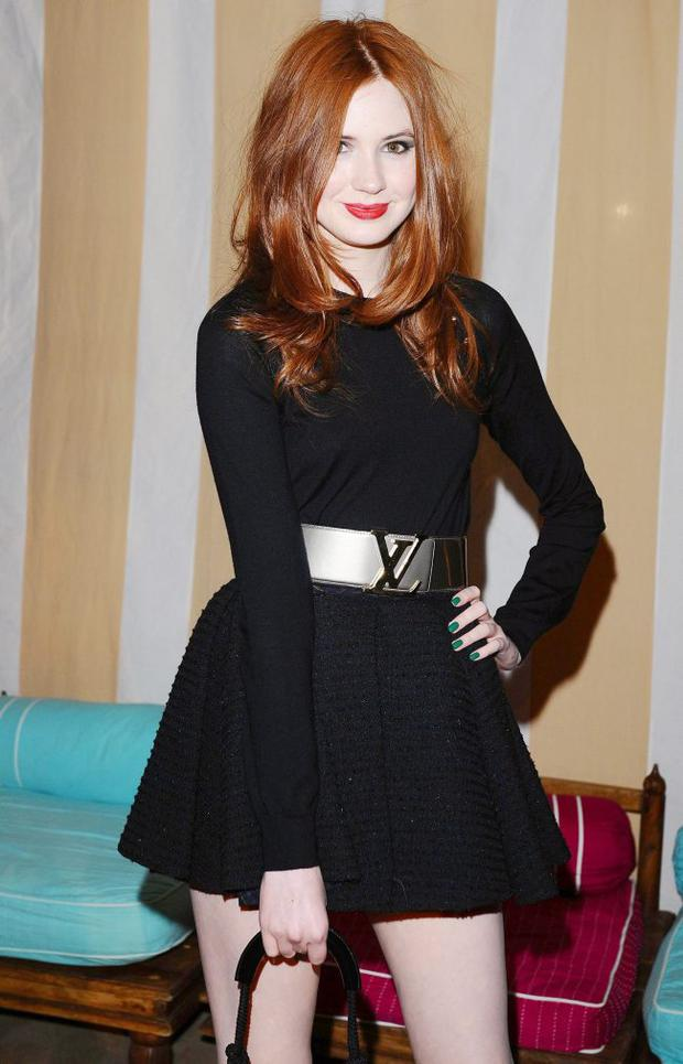 Karen Gillan at the aftershow party for the new film Sex And The City 2 at the Orangery in London.