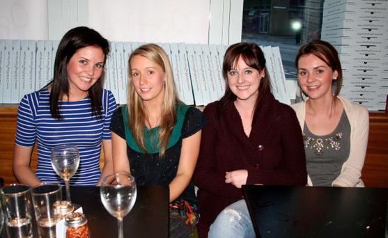 Labhaoise Glancy, Naomh Gallagher, Catherine Murray, Aine Fraser at Little Wings' opening night