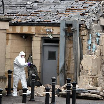 A man being questioned over the car bomb attack outside Newry Courthouse has been released