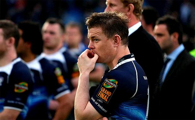 Leinster's Brian O'Driscoll stands dejected following the Magners League Final at the RDS, Dublin
