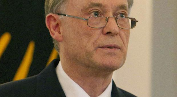 German President Horst Koehler announces his resignation at Bellevue Palace in Berlin