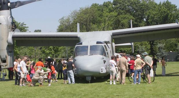 A Marine MV-22 Osprey injured 10 people when it landed in Staten Island