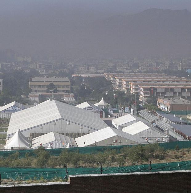 The Peace Jirga tent, the venue of the three-day conference in Kabul, Afghanistan