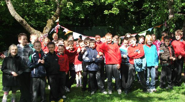 The children from Whitehouse Primary School