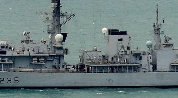 A Royal Navy warship is helping Belfast celebrate its Maritime Festival