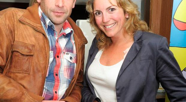 David Barbour and Niamh Hallihan at the Men's Style Night in aid of the Ulster Cancer Foundation