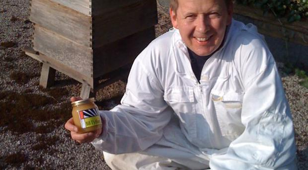 Sting in the tale: BBC presenter Bill Turnbull with his homemade honey
