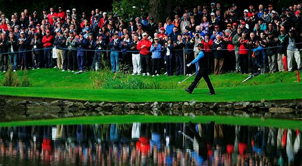 Tiger Woods, who was part of the American Ryder Cup team at the K Club, will appear in next month's JP McManus Invitational Pro-Am tournament at the Adare Manor Hotel