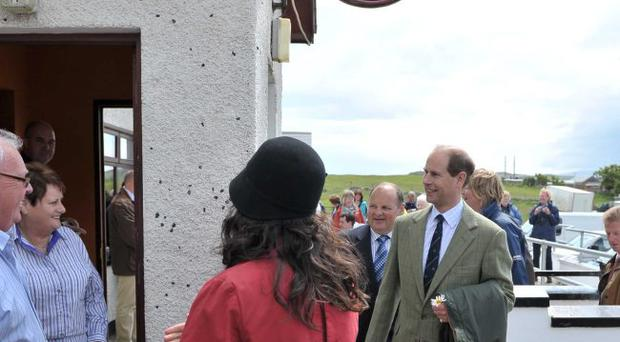 The Earl and Countess of Wessex during their visit to Rathling Island. June 2010. ©Russell Pritchard / Presseye
