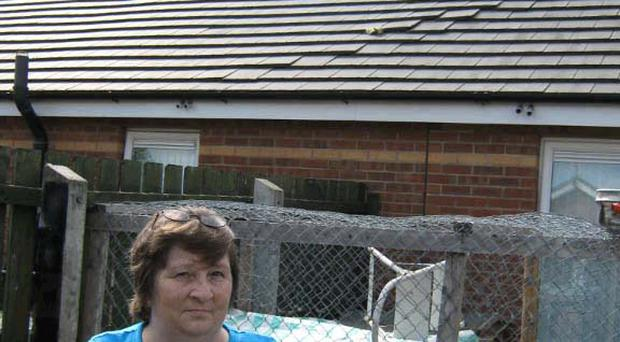 Residents fear the removal of the cap on flights will mean more incidents like the damage to Jean Wright's east Belfast roof at the weekend