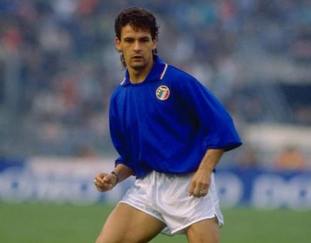 <b>40. Roberto Baggio solo run</b><br/> Italian superstar Roberto Baggio scored one of the great World Cup goals during the 1990 tournament. In the final group stage match against Czechoslovakia, Baggio picked up the ball on the halfway line. A smooth one-two and then he was off towards goal. Nipping between two defenders, he singled out the last with a terrifyingly fast run. The defender backed off for too long and when the chance opened up, Baggio scored with a splendid finish. The Stadio Olimpico went wild as the home team continued their progress through the tournament.