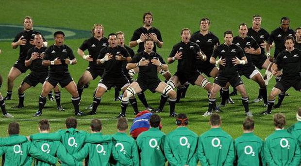 The All Blacks play Ireland at Yarrow Stadium on June 12, 2010 in New Plymouth, New Zealand.