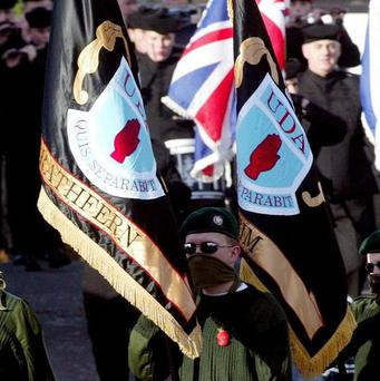 Number of paramilitary flags on show in N Ireland has halved