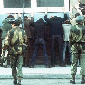 Bloody Sunday - when members of the parachute regiment opened fire on a banned Civil Rights marc. PACEMAKER PRESS