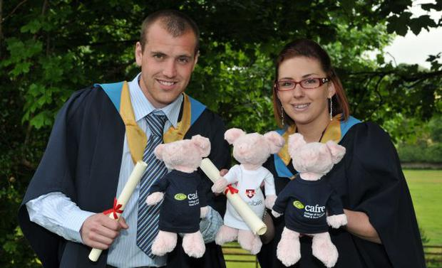 Graduates Christopher Gamble (Ballymena) and Kathy Patterson (Maghera) celebrate their graduation and employment success at the Loughry Campus Awards Ceremony held today at the Cookstown Campus. June 2010