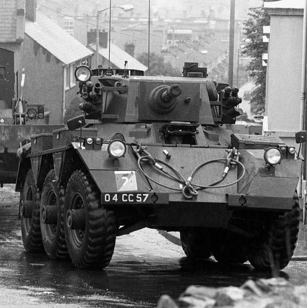 Armoured vehicles in Londonderry during Operation Motorman