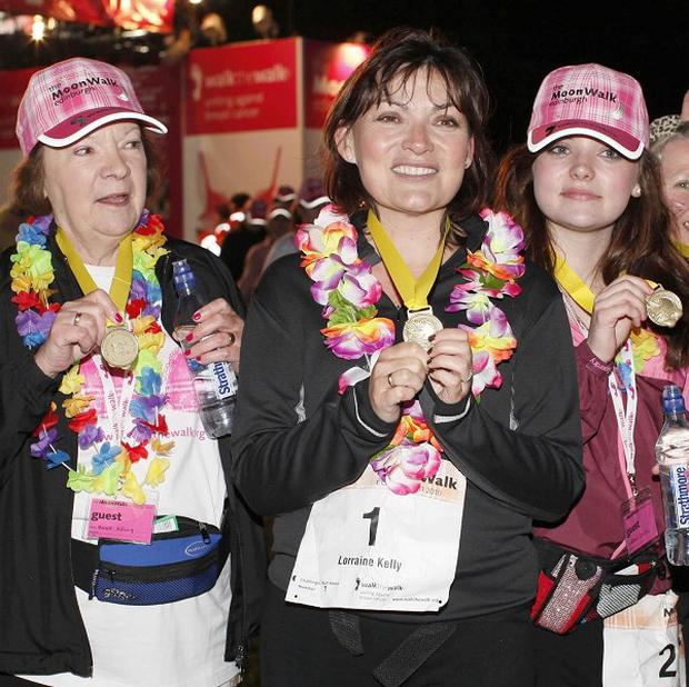 Lorriane Kelly with her mother Anne and daughter Rosie at the Edinburgh MoonWalk