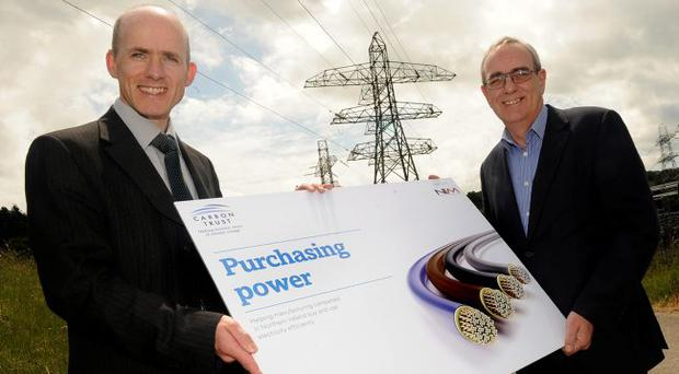 Chief executive of NI Manufacturing, Bryan Gray, and manager of the Carbon Trust in Northern Ireland, Geoff Smyth