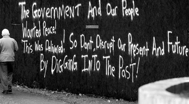 Graffiti during policing and justice talks