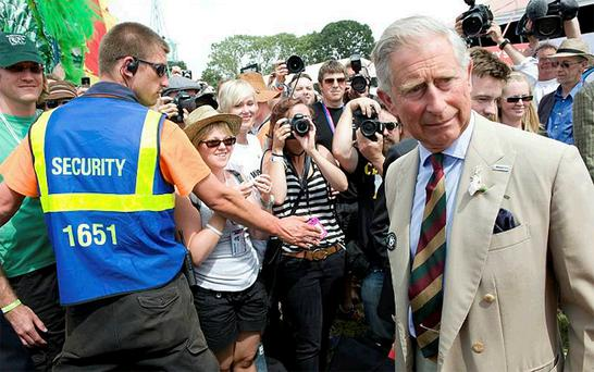 Prince Charles visited Glastonbury on Thursday